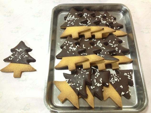 biscotti alberini di natale
